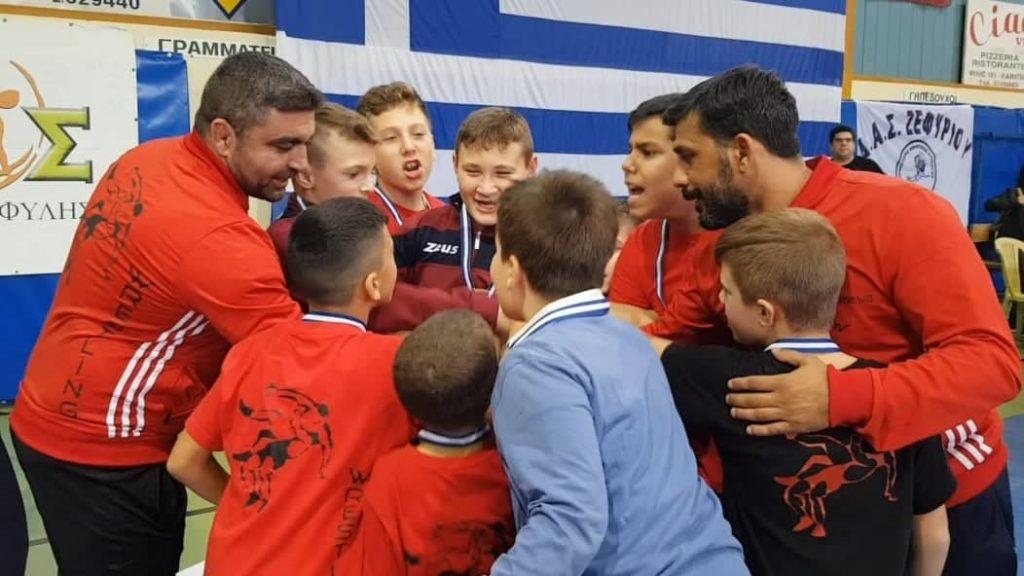 """Εντυπωσίασε το """"νέο αίμα"""" παλαιστών του Ζεφυρίου στο Παιδικό Αναπτυξιακό Τουρνουά!"""