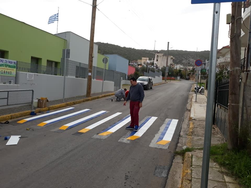 Με αμείωτους ρυθμούς προχωρούν οι εργασίες κυκλοφοριακών παρεμβάσεων από τον Γιώργο Ραφτέλη