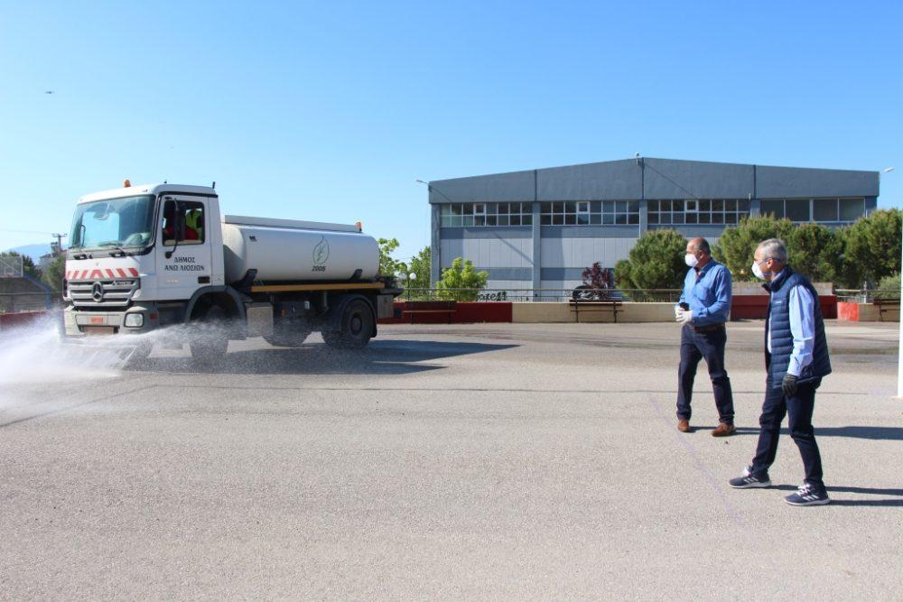 Ο Δήμος Φυλής προετοιμάζει την ασφαλή επιστροφή των μαθητών της Γ' Λυκείου στα θρανία