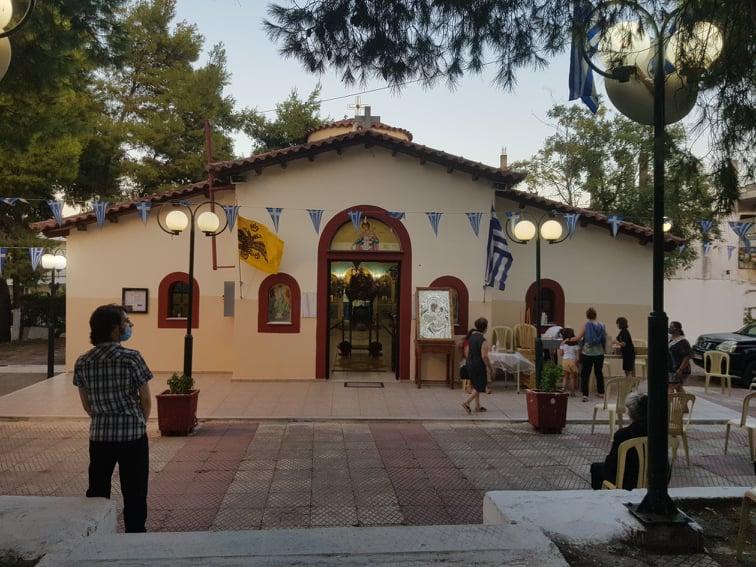 Με κατάνυξη, εν μέσω πανδημίας, ο εορτασμός της πολιούχου Παναγίας Γρηγορούσης στο Ζεφύρι