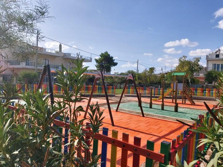 Ολοκληρώνεται η ανάπλαση της πλατείας – παιδικής χαράς στη Ρωμανού Μελωδού